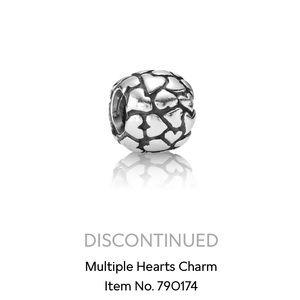 Pandora Retired Multiple Hearts Charm